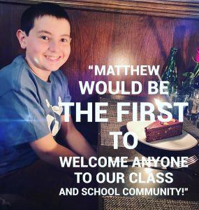 nominee #3 for the Be The One Ambassador Award… Matthew, a 5th grader from Penngrove Elementary School