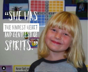 5th nominee for this year's Be The One Ambassador award… Help us congratulate Violet, a kindergartener at Yulupa Elementary School!